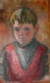 Portrait of S. Savage, age 11, by Eleanor de Ghize